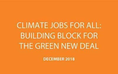 Climate Jobs for All: A Key Building Block of the Green New Deal