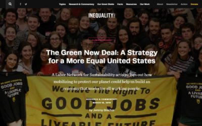 The Green New Deal—A Strategy for a More Equal United States