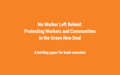No Worker Left Behind in the Green New Deal