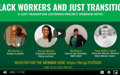 'Black Workers and Just Transition' Inspires, Engages and Uplifts