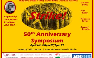 Jeremy Brecher's Strike! 50th Anniversary Symposium, Keynote by Sara Nelson