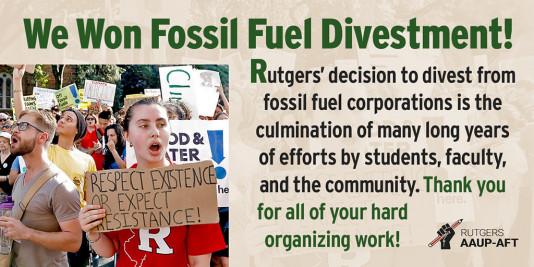 Rutgers Divests!